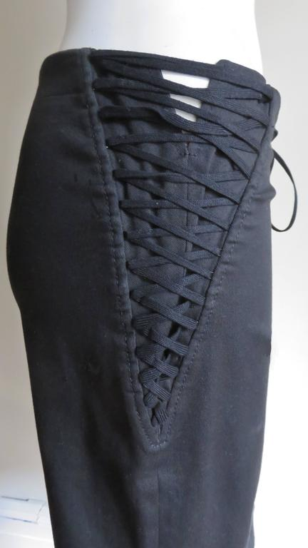 Women's Dolce & Gabbana Lace Up Skirt For Sale