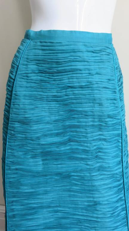Sybil Connolly 1960's Sculptural Signature Linen Maxi Skirt 2