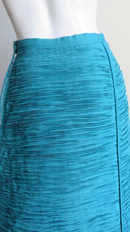 Sybil Connolly 1960's Sculptural Signature Linen Maxi Skirt 7