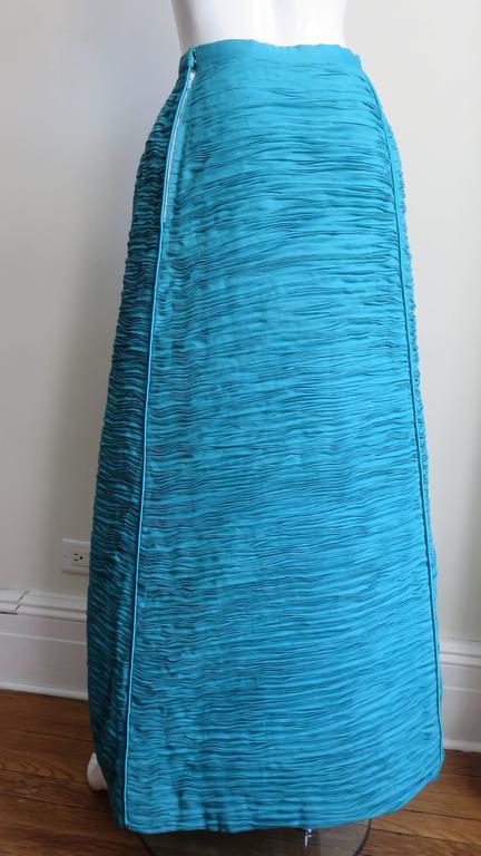 Sybil Connolly 1960's Sculptural Signature Linen Maxi Skirt 9