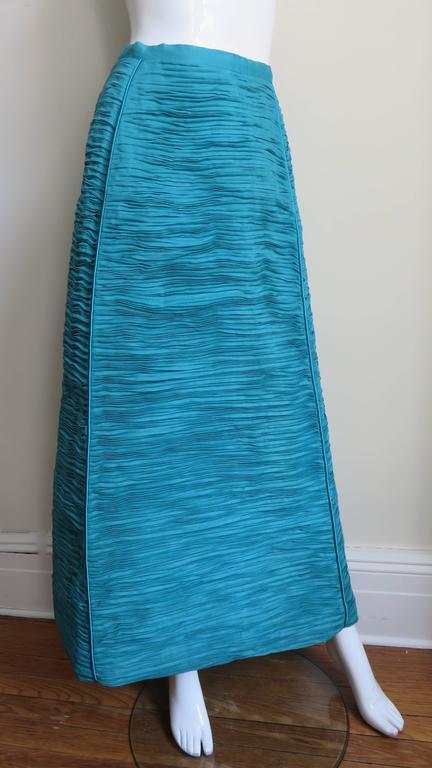 Sybil Connolly 1960's Sculptural Signature Linen Maxi Skirt 3