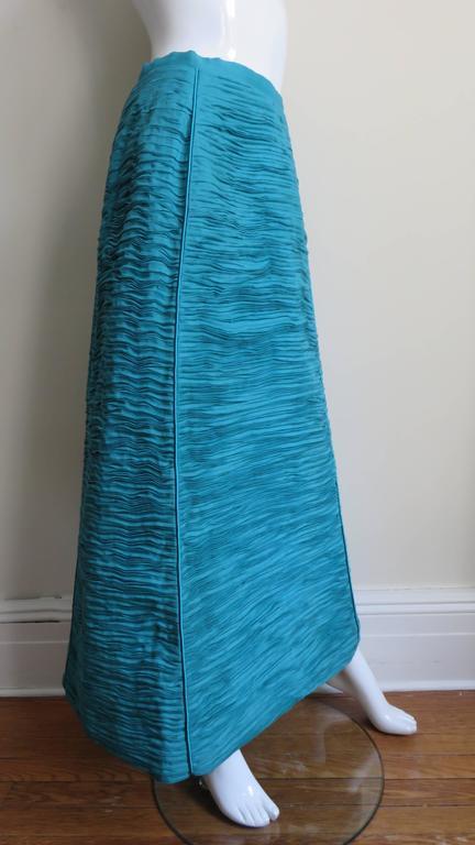 Sybil Connolly 1960's Sculptural Signature Linen Maxi Skirt 4