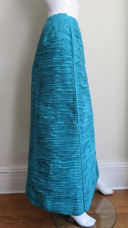 Sybil Connolly 1960's Sculptural Signature Linen Maxi Skirt 5