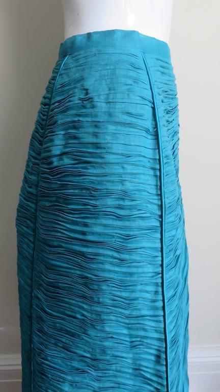 Sybil Connolly 1960's Sculptural Signature Linen Maxi Skirt 6
