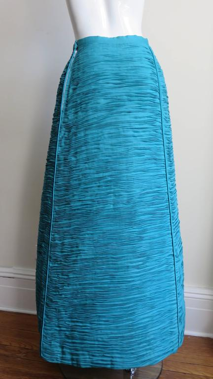 Sybil Connolly 1960's Sculptural Signature Linen Maxi Skirt 8
