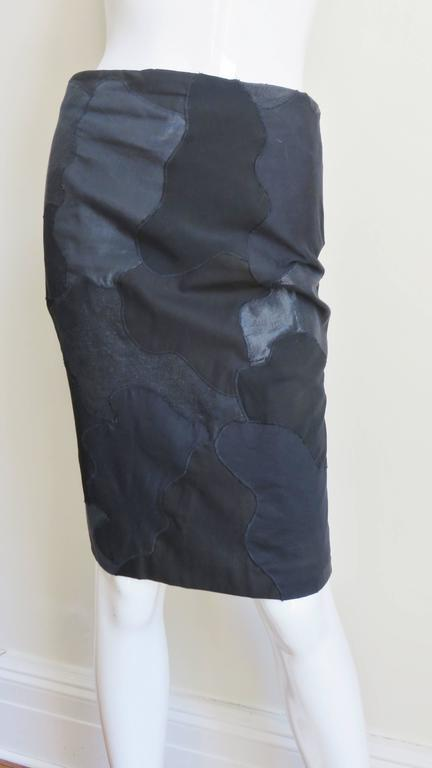 Alexander McQueen Black Clouds Patchwork Skirt In Good Condition For Sale In New York, NY