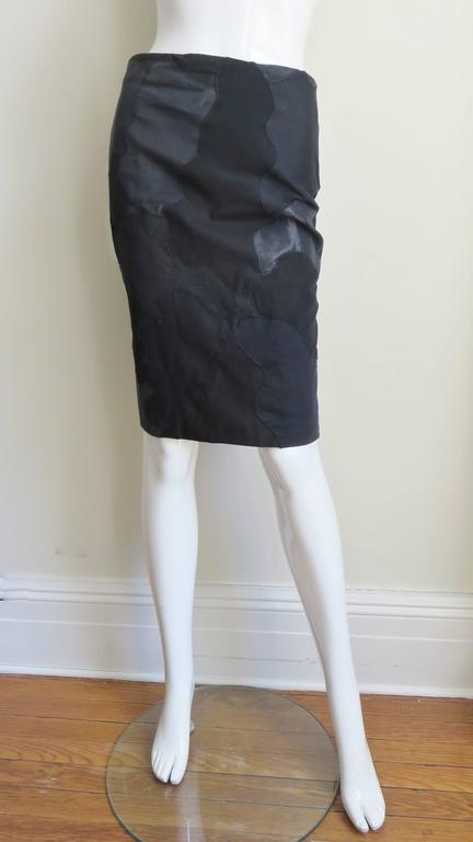 Women's Alexander McQueen Black Clouds Patchwork Skirt For Sale