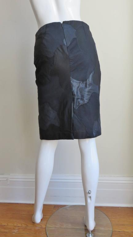 Alexander McQueen Black Clouds Patchwork Skirt For Sale 3