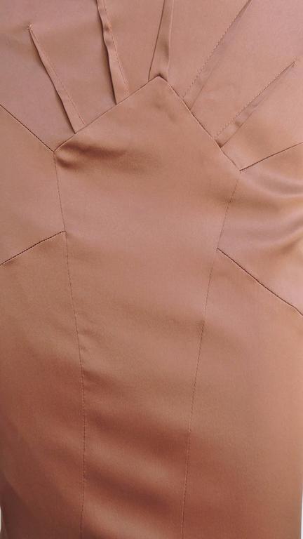 Brown Dolce & Gabbana New Bronze Silk Skirt For Sale