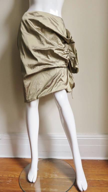 1990s Christian Lacroix Sculptural Silk Skirt In Good Condition For Sale In New York, NY