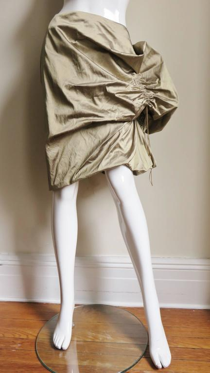 Women's 1990s Christian Lacroix Sculptural Silk Skirt For Sale