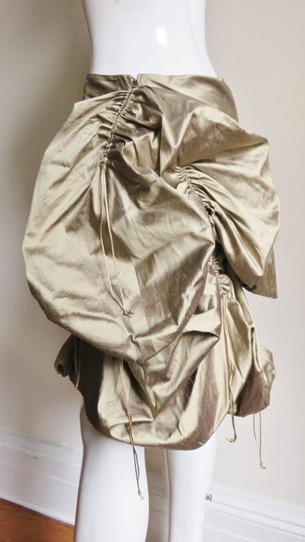 1990s Christian Lacroix Sculptural Silk Skirt For Sale 1
