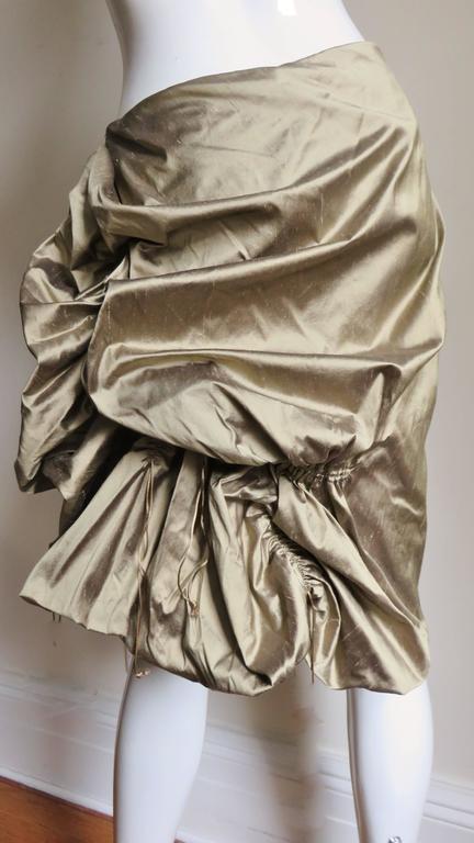 1990s Christian Lacroix Sculptural Silk Skirt For Sale 2