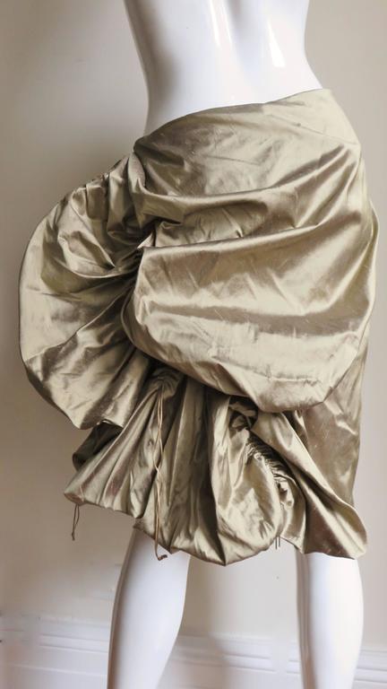 1990s Christian Lacroix Sculptural Silk Skirt For Sale 3