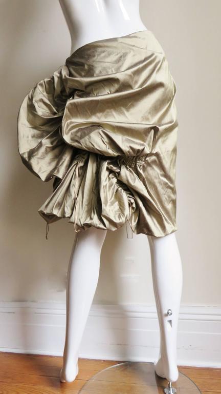 1990s Christian Lacroix Sculptural Silk Skirt For Sale 4