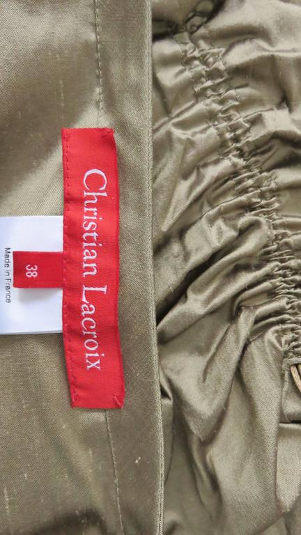 1990s Christian Lacroix Sculptural Silk Skirt For Sale 5