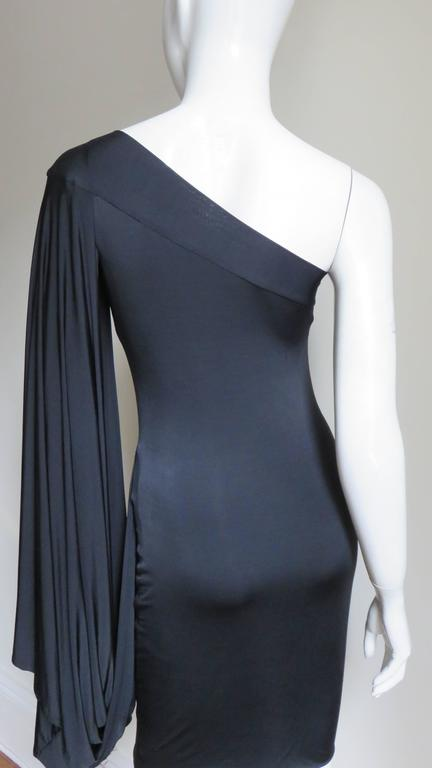 Antonio Berardi Silk Drape Sleeve Dress For Sale 1