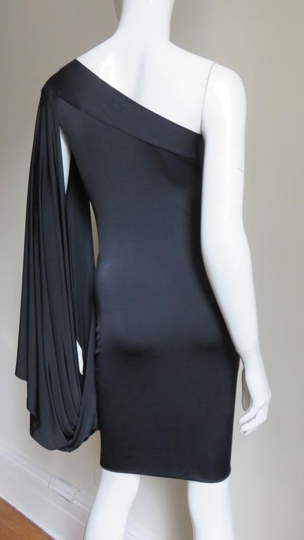 Antonio Berardi Silk Drape Sleeve Dress For Sale 2