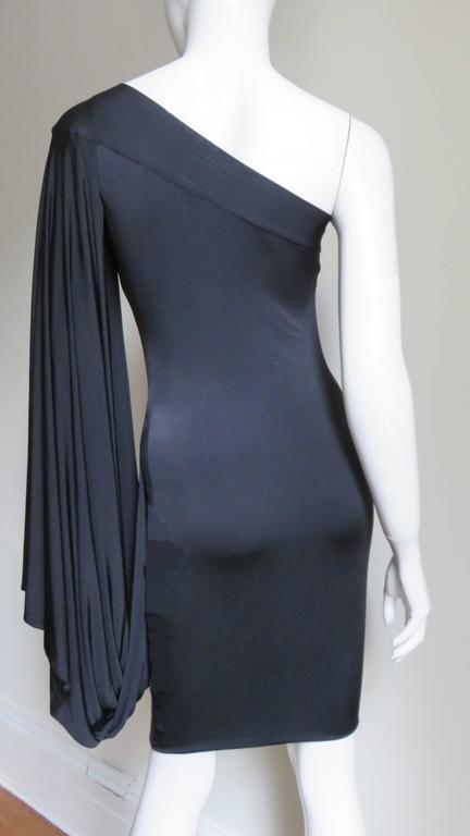 Antonio Berardi Silk Drape Sleeve Dress For Sale 3