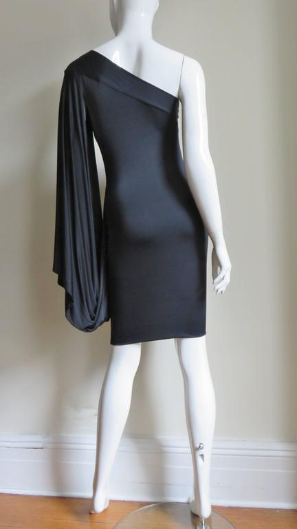 Antonio Berardi Silk Drape Sleeve Dress For Sale 4
