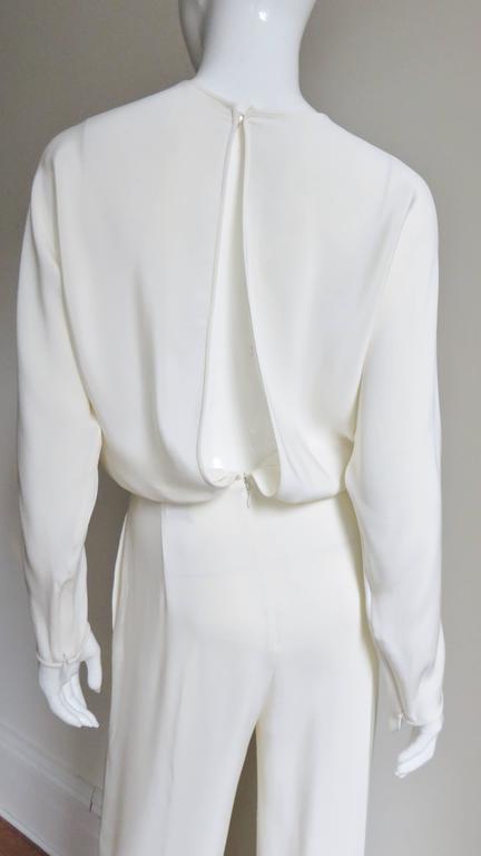 Valentino Slit Back Dolman Sleeve Jumpsuit 6