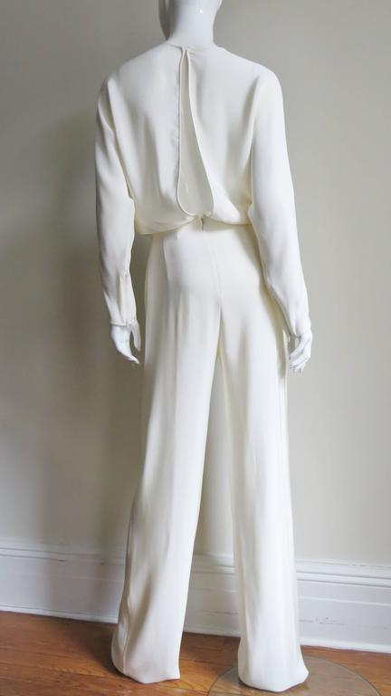 Valentino Slit Back Dolman Sleeve Jumpsuit 9