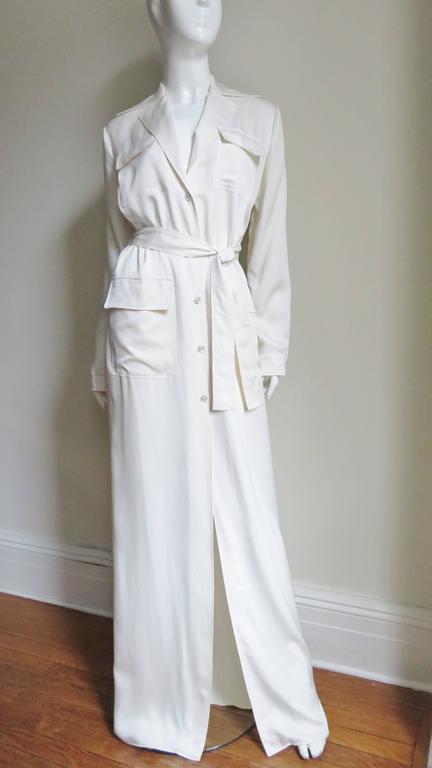 Gucci Silk Shirtwaist Maxi 5