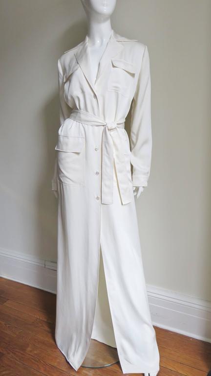 Gucci Silk Shirtwaist Maxi 6