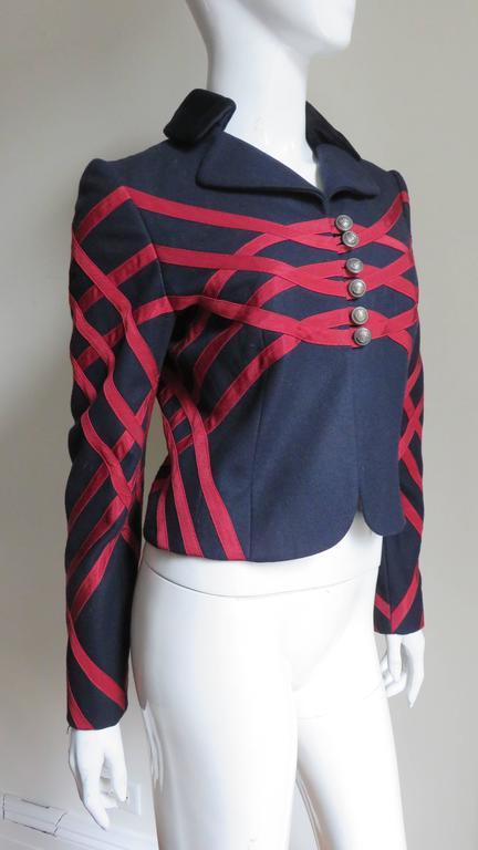 Moschino Geometric Pattern Jacket For Sale 2