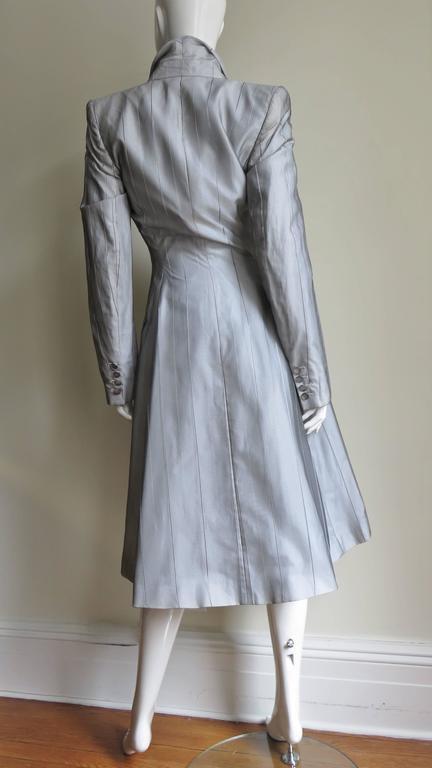 1999 Alexander McQueen Silk Shirt & Long Jacket For Sale 4