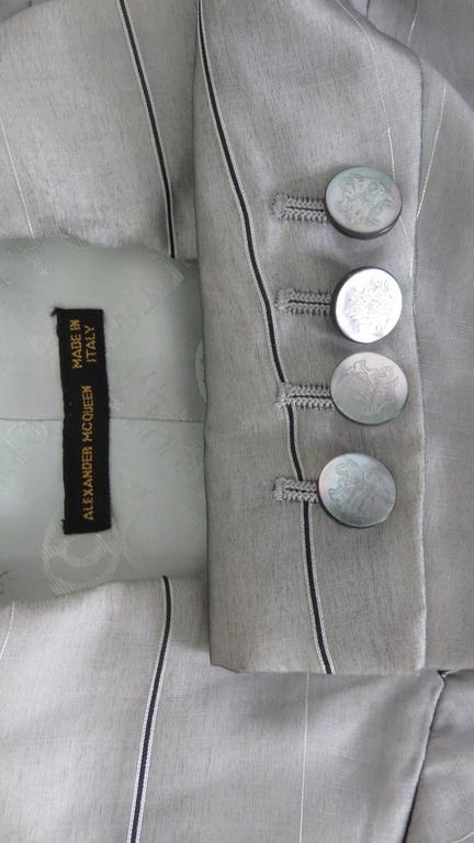 1999 Alexander McQueen Silk Shirt & Long Jacket For Sale 5
