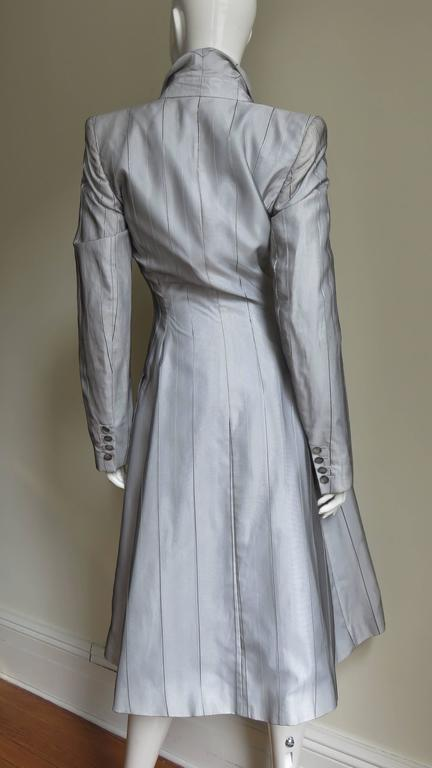 1999 Alexander McQueen Silk Shirt & Long Jacket For Sale 3