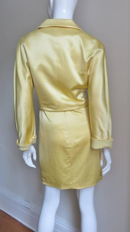 Gianni Versace Silk Dress and Jacket For Sale 8