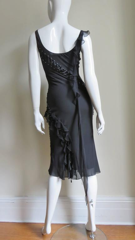 John Galliano for Chrisitian Dior Vintage Laceup Silk Dress For Sale 4