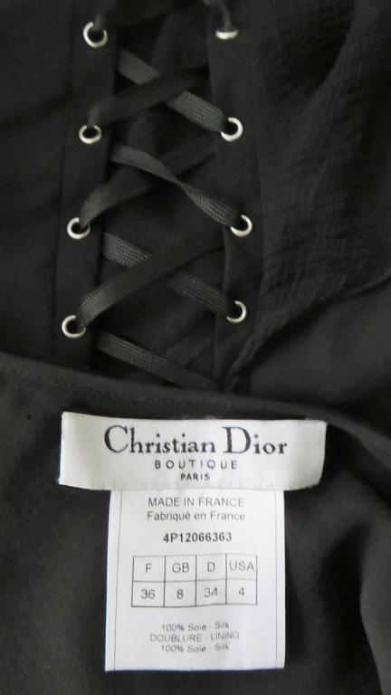 John Galliano for Chrisitian Dior Vintage Laceup Silk Dress For Sale 5
