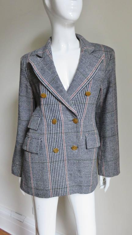 Gray 1990s Vivienne Westwood Double Breasted Jacket For Sale