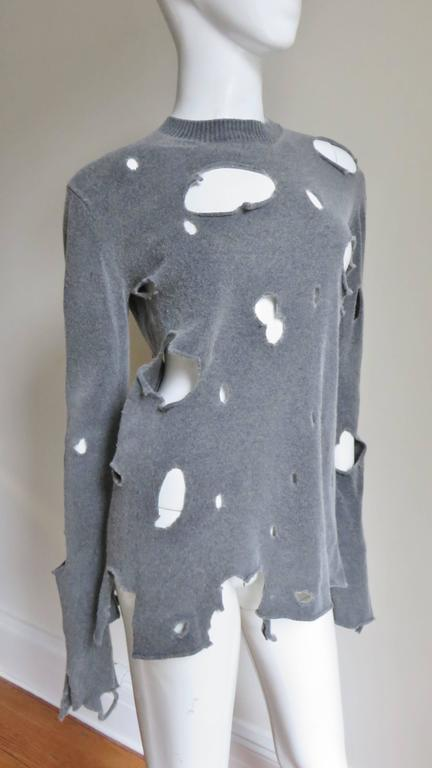 comme des garcons vintage distressed sweater at 1stdibs. Black Bedroom Furniture Sets. Home Design Ideas