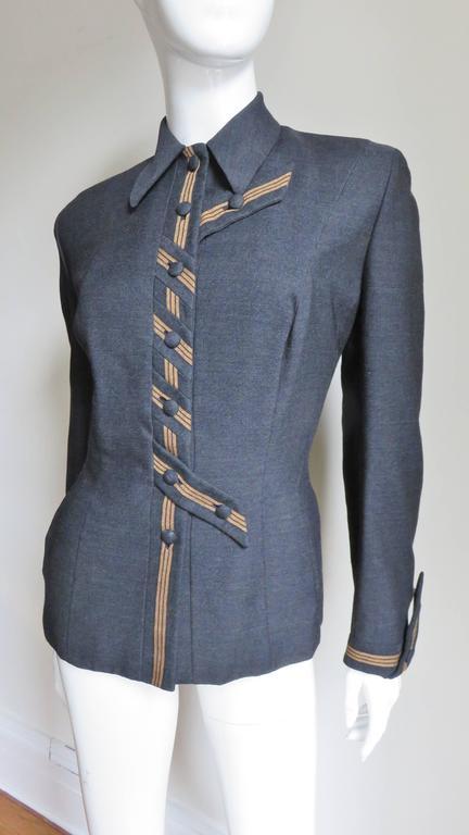 Women's 1940's Sally Milgrim Jacket with Tabs For Sale