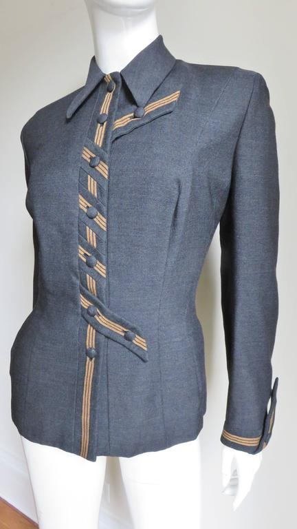 1940's Sally Milgrim Jacket with Tabs In Good Condition For Sale In Water Mill, NY