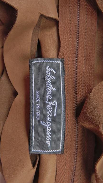 Ferragamo Fabulous Suede Cutout Top & Cuffs 10