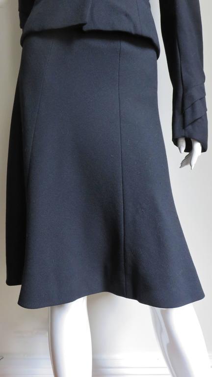 Women's John Galliano Runway Skirt Suit 1990s For Sale