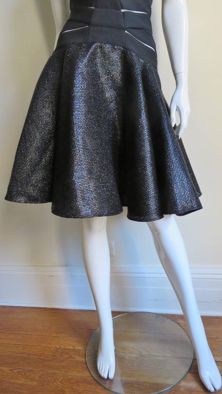 Versace Runway Cutout Bandage Dress With Full Skirt 4