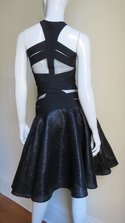 Versace Runway Cutout Bandage Dress With Full Skirt 6