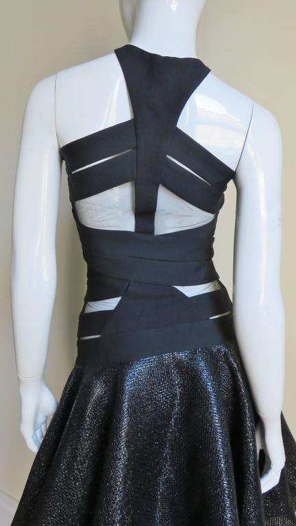 Versace Runway Cutout Bandage Dress with Full Skirt For Sale 2