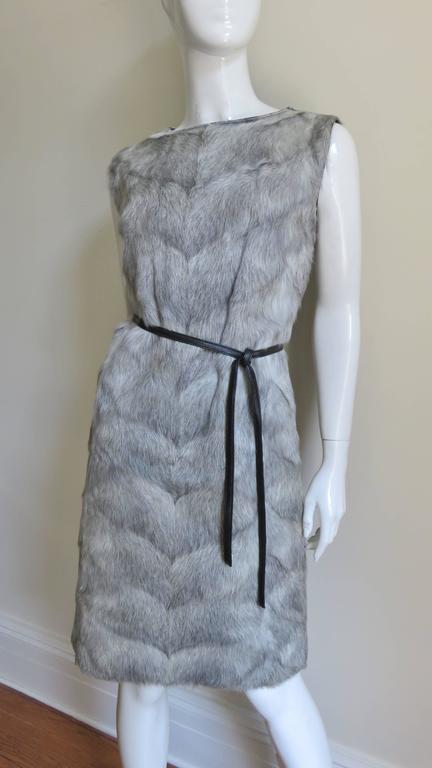 1960s Mr G Fur Dress and Jacket For Sale 2