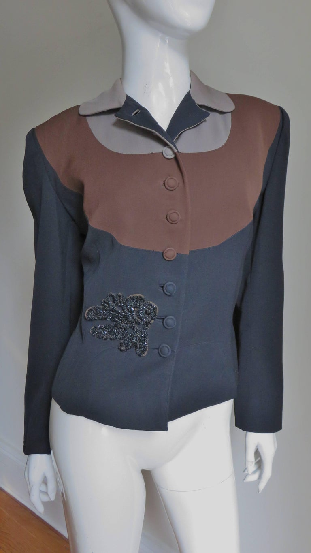 Women's Eisenberg Originals 1950s Color Block Jacket For Sale