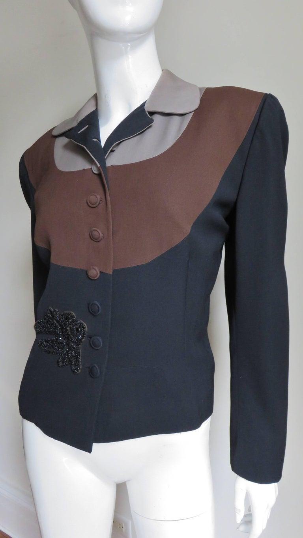 Eisenberg Originals 1950s Color Block Jacket For Sale 1