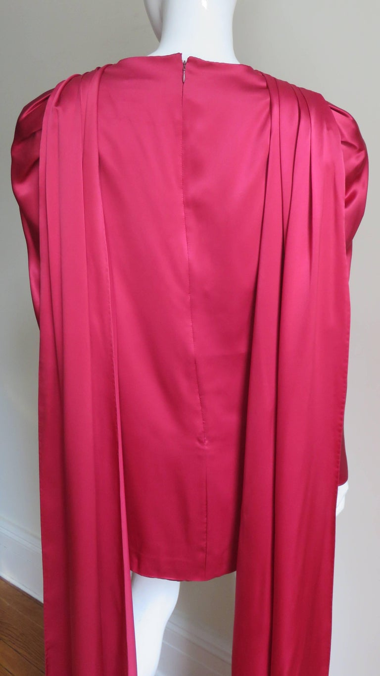 1980s Wallace Slove Mini Dress With Draping 8