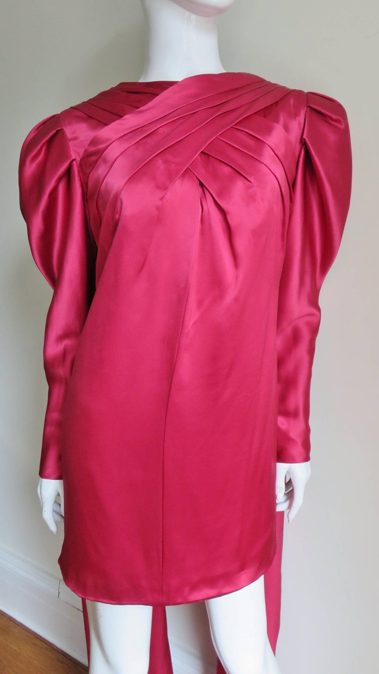 1980s Wallace Slove Mini Dress With Draping 2