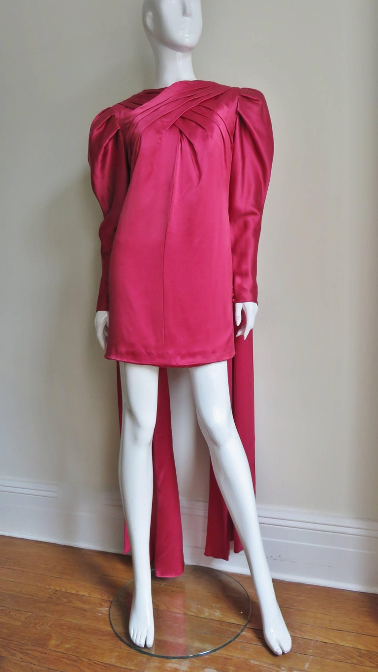 1980s Wallace Slove Mini Dress With Draping 6